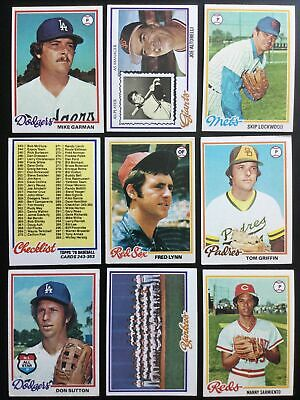 $1.24 • Buy 1978 TOPPS Baseball Cards.   Cards #251-500 .   You Pick To Complete Your Set