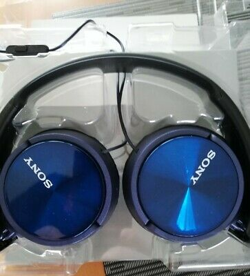 £5 • Buy Sony Stereo Headphones, MDR-ZX310AP, Blue , Foldable, Hands Free , Dynamic.