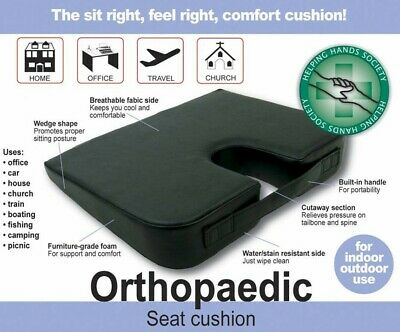 £18.95 • Buy Orthopaedic Seat Cushion Wedge Coccyx Cut Out Carry Handle