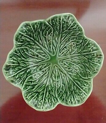 £16.99 • Buy Vintage Subtil John Buck Portugal Majolica Green Cabbage Leaf 22cm Bowl. VGC
