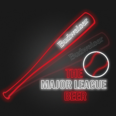 $ CDN544.30 • Buy Budweiser Mlb Led Neon Led Sign Animated