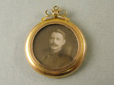 £56.95 • Buy Lovely Edwardian 9ct Gold PICTURE PENDANT C1910