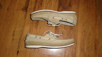 £19.99 • Buy Marks & Spencer M&S Sand Suede Leather Deck Boat Shoes Size 9.5