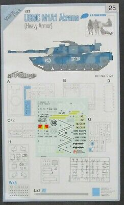 $12.29 • Buy Cyber Hobby 1/35th Scale M1A1 Abrams Heavy - Decals From Kit No. 9125
