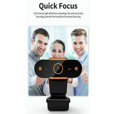 AU18.04 • Buy HD Gaming Webcam 1080P With Microphone USB 2.0 60 Fps PC Streaming Web Camera