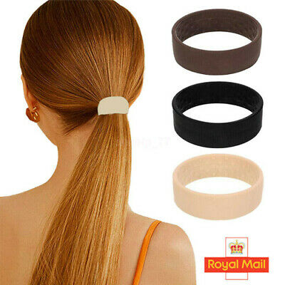 £5.89 • Buy 3 Colors Foldable One Wide Pony Band Clip Wide Pony Hair Band O Hair Tie Band UK