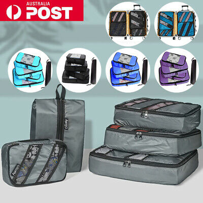 AU15.99 • Buy 5PCS Travel Luggage Storage Bags Clothes Organiser Packing Suitcase Cube Pouches
