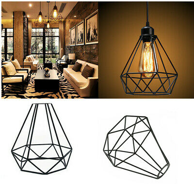 £5.89 • Buy Vintage Metal Cage Industrial Wire Frame Pendant Light Loft Ceiling Lamp Shade