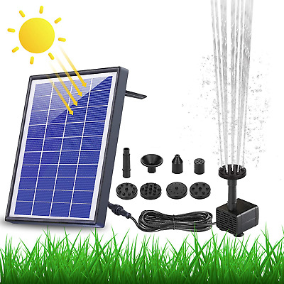 £32.80 • Buy AISITIN Solar Fountain Pump 6.5W Panel With Battery Backup Solar Water Pump 6 Or