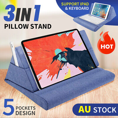 AU17.45 • Buy Tablet Pillow Stands For IPad Book Reader Keyboard Stand Holder Reading Cushion