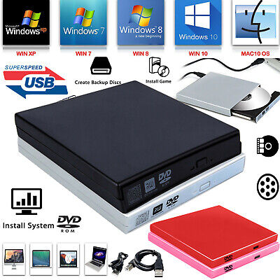 £6.29 • Buy External Laptop PC USB To SATA DVD CD Rom RW Drive Caddy Case Cover Enclosure UK