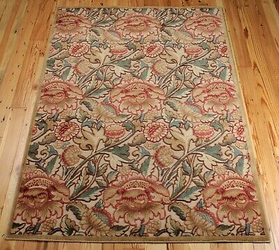 £39 • Buy CHINESE, FLORAL RUG, 3'6  X 5'6 , MACHINE MADE,BEIGE, GOLD,GREEN, BLUE,BROWN,RED