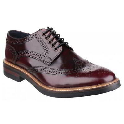 £60.49 • Buy Base London Woburn Mens Red Leather Lace Up Country Brogues Shoes Size 7-12
