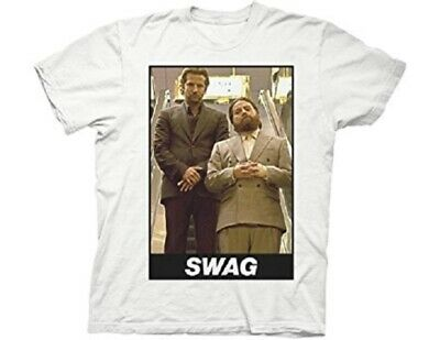 £7.26 • Buy The Hangover Movie 'Swag' Men's White Graphic T-Shirt Short Sleeve 100% Cotton M