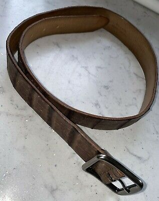 £25.99 • Buy Anderson's ITALIAN  Belt - Grained Brown Leather 40 /90cm RRP £93 NEW