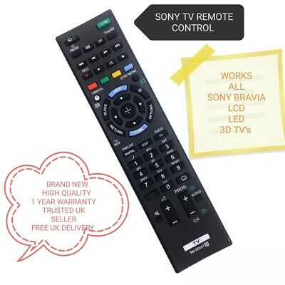 £5.20 • Buy UNIVERSAL SONY TV REMOTE CONTROL WORKS ALL MODELS SONY BRAVIA LCD/LED/3D TVs