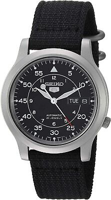 $ CDN87.35 • Buy SEIKO Men's SNK809   5 Automatic Stainless Steel Watch With Black Canvas Strap