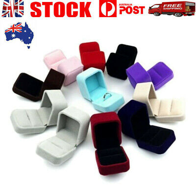 AU8.99 • Buy Squre Velvet Earrings Ring Box Wedding Jewelry Displays Storage Case Gifts Boxes