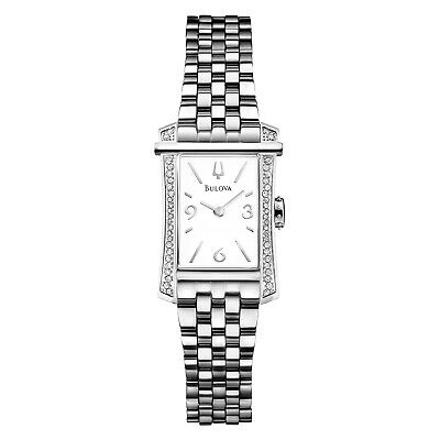 $ CDN1.63 • Buy Bulova Women's Quartz Diamond Accent Silver-Tone White Dial 30mm Watch 96R186