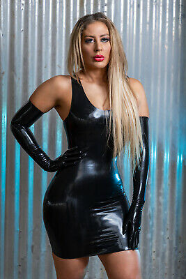 £34.95 • Buy Fay Latex Rubber Mini Dress ( Made From Moulded Latex)