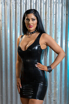 £34.95 • Buy Cato Latex Rubber Low Cut Mini Dress   ( Made From Moulded Latex )