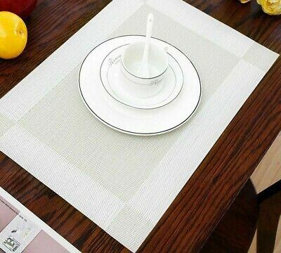 AU65.63 • Buy Placemats Pad Table Mats Washable Heat-resistant Dining Modern Mat Accessory New