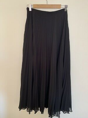 AU18 • Buy FOREVER NEW Ladies Black Pleated Maxi Skirt - Size 8