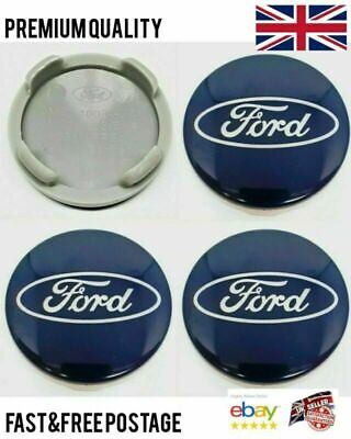 £5.69 • Buy SET Of 4 X BLUE 54mm Alloy Wheel Centre Caps For FORD Focus Mondeo Fiesta Galax