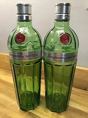 £8.99 • Buy Tanqueray No Ten Empty Gin Bottles With Lids Pair X2 Upcycle