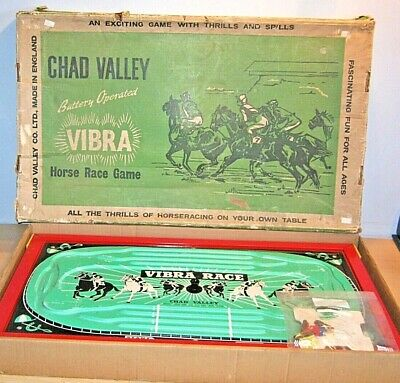 £9.99 • Buy Vintage CHAD VALLEY - VIBRA Horse Race Game OLD Battery Operated