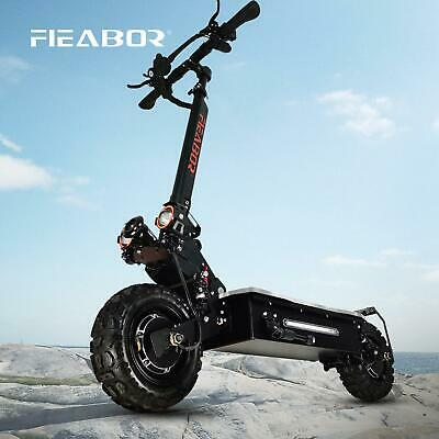AU901.07 • Buy Fieabor Electric Folding Scooter 60v /5600w Adult Dual Motor Two Wheel 11inch