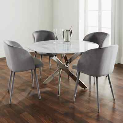 AU184.49 • Buy Silver Plated Marble Glass Round Dining Table ONLY LEGS