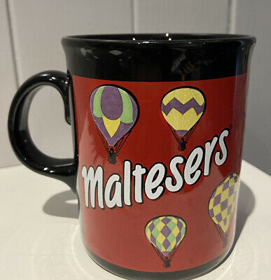 £7 • Buy Vintage Maltesers Hot Air Balloons Red + Black Mug Made In England By Tams
