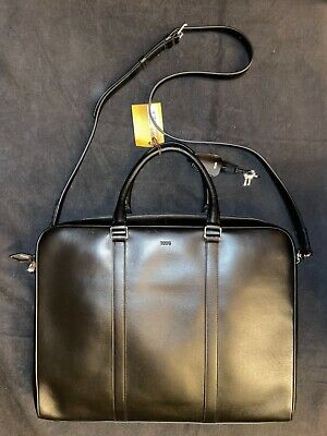 $265 • Buy Tod's $1625 Porta Document Business Bag Blk Leather Briefcase XBMMDBLS300VIBB999
