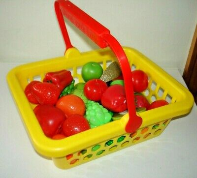 £4.99 • Buy Large Mini Cuisine Basket Of 35 Pieces Of KITCHEN PLAY FOOD