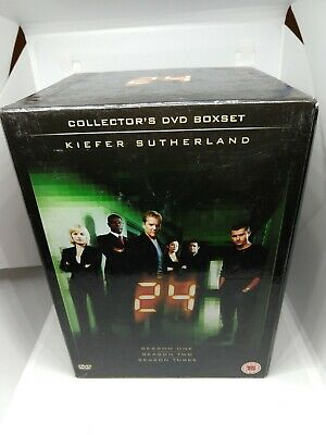 £8.99 • Buy 24 Complete Series 1 2 3 Collector's DVD Boxset Free P&P UK Kiefer Sutherland