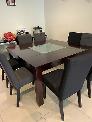 AU429 • Buy 8 Seater Adriatic 150x150cm Dining Table With Free Chairs