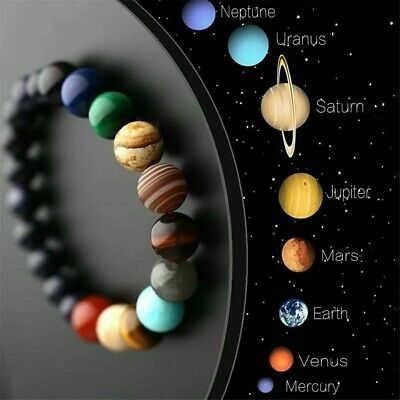 AU1.16 • Buy 7 Chakra Healing Beaded Bracelet  & Bangles Natural Lava Stone Yoga Prayer