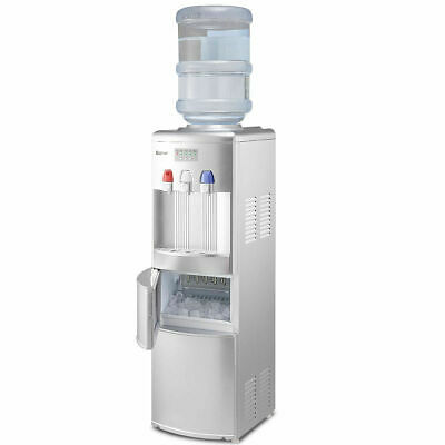$359.98 • Buy Costway Top Loading Water Dispenser W/Built-In Ice Maker Machine Hot Cold Water