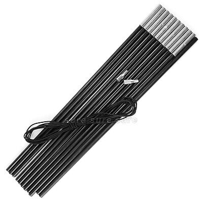 £11.99 • Buy FIBREGLASS POLE KIT 11 SECTIONS 50CM X 9.5MM CAMPING TENT AWNING REPAIRS Black
