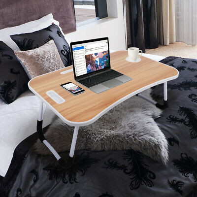 £8.99 • Buy Portable Folding Laptop Table Bed Tray Lap Desk Notebook With Stand Cup Slot UK