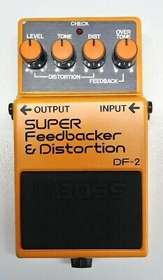 $ CDN156.08 • Buy BOSS DF-2 Feedbacker & Distortion Guitar Effects Pedal 1985 MIJ #143 DHL Or EMS