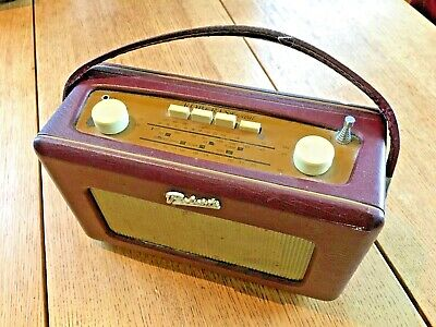 £10 • Buy ROBERTS Revival R250 FM/AM/LW Portable Radio Leather Cloth Maroon
