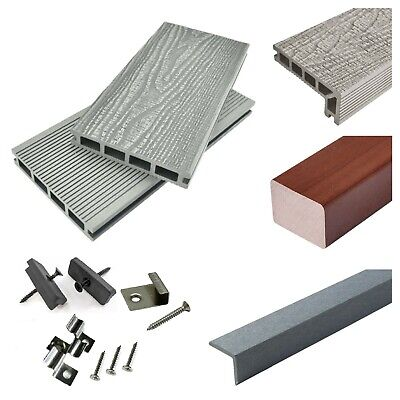 £24.94 • Buy Silver Grey Composite Decking WPC 3.6m Boards, Steps, Trims And Fixing Packs