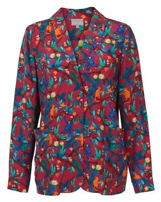 £16.95 • Buy OLIVER BONAS Ladies Botanical Print RED Relaxed Shirt SIZE 10 Moneky/Tropical