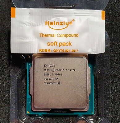 £114.95 • Buy INTEL CORE I7 3770K 3.50GHZ SOCKET 1155 QUAD CORE CPU *TESTED WORKING*