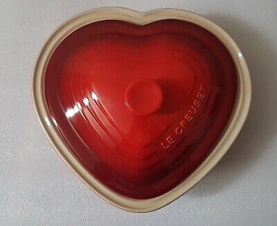 £50 • Buy Le Creuset Stoneware Red Heart Casserole Dish With Lid 2.4L Unused