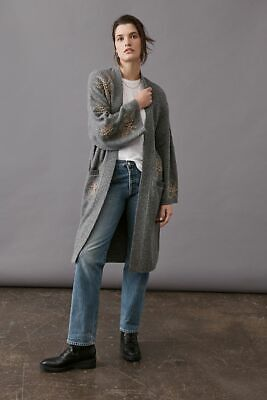 $ CDN263.77 • Buy   Anthropologie  Roxanna Embellished Duster Cardigan One Size New