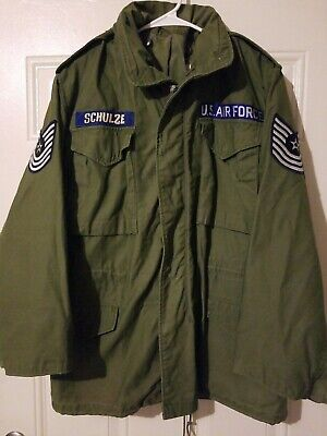 $148 • Buy US AIR FORCE COAT M-65 VINTAGE FIELD JACKET Master Sergeant Size Regular Small
