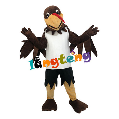 £280.59 • Buy Brown Eagle Bird Mascot High Quality Handmade Costume Set Cosplay Party Ad 2021
